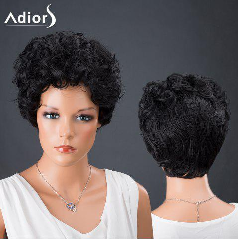 Shops Adiors Hair Synthetic Short Bouncy Curly Wig BLACK