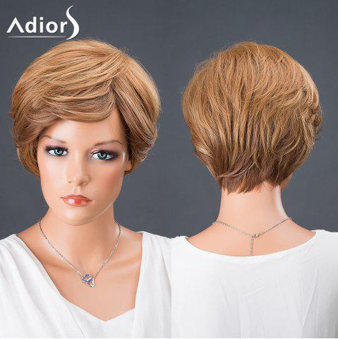 Online Adiors Hair Short Side Bang Colormix Boy Cut Srtraight Synthetic Wig COLORMIX