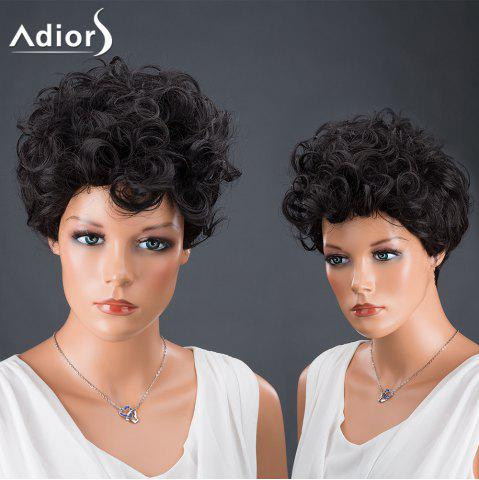 Best Adiors Hair Synthetic Short Fluffy Curly Wig BLACK