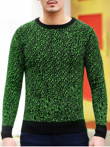 Slim Fit Crew Neck Space Dyed Sweater