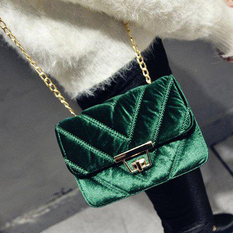 Affordable Velvet Chains Crossbody Bag