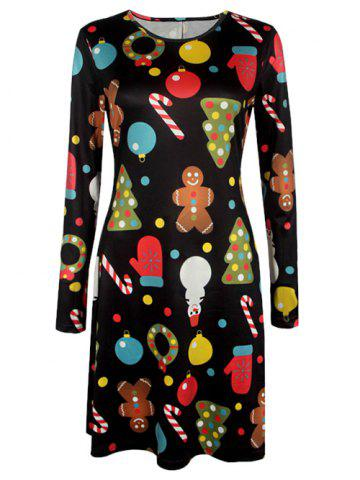 Hot Sale: Free Shipping + 86% OFF for Knee Length Christmas Patterned Dress