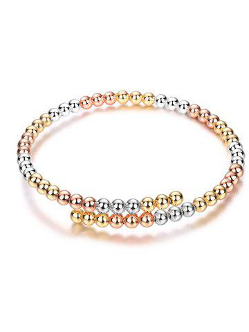 Cheap Alloy Polished Beads Bracelet