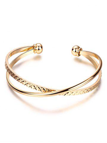 Outfit Crossover Engraved Cuff Bracelet