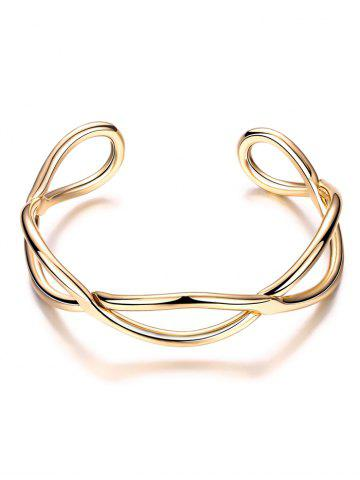 Buy Infinite Glod Plated Cuff Bracelet GOLDEN