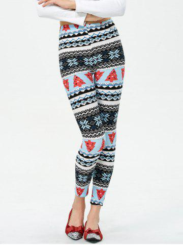 Buy Christmas Tree Printed Footless Leggings