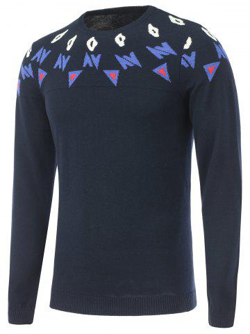 Long Sleeves Crew Neck Graphic Sweater