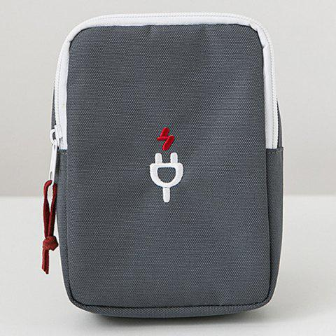 Latest Nylon Pouch for Cellphone Accessories Earphones USB Cables