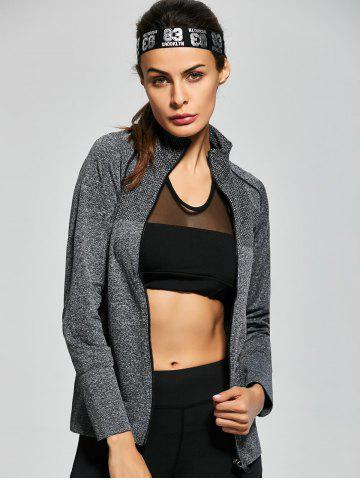 New Quick Dry Zipper Work Out Running Jacket - S GRAY Mobile