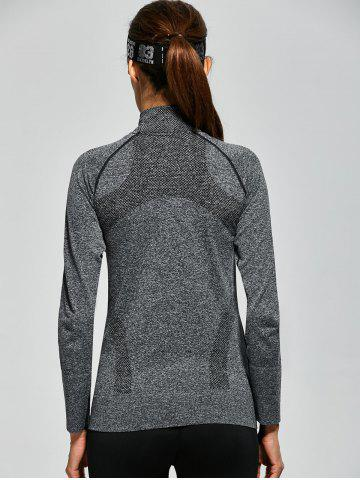 Fashion Quick Dry Zipper Work Out Running Jacket - S GRAY Mobile