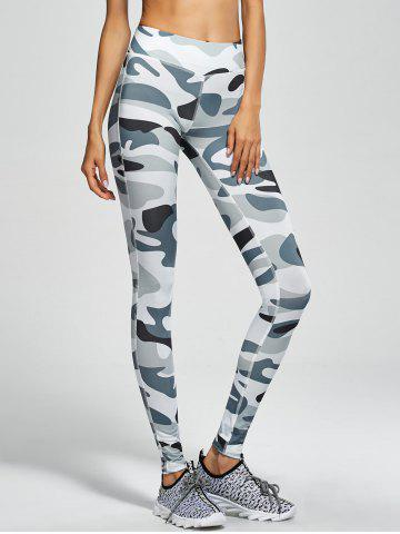 Buy Camouflage High Waist Sport Pants - S ARMY GREEN CAMOUFLAGE Mobile