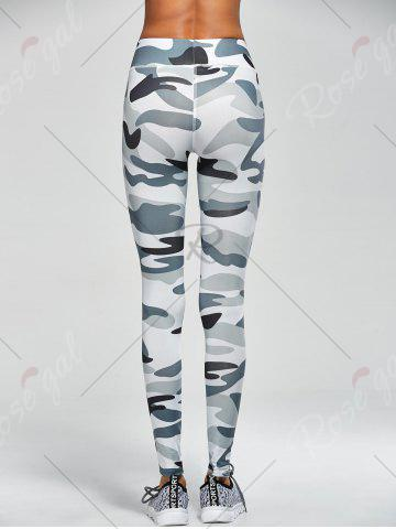 Outfits Camouflage High Waist Sport Pants - S ARMY GREEN CAMOUFLAGE Mobile
