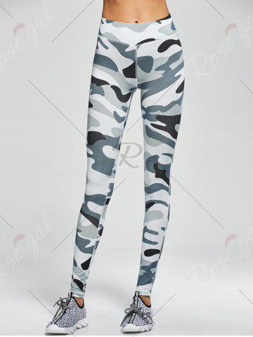 Hot Camouflage High Waist Sport Pants - S ARMY GREEN CAMOUFLAGE Mobile