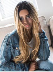 Stunning Natural Straight Long Synthetic Wig For Women