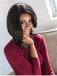 Stylish Black Medium Bob Style Straight Synthetic Wig For Women