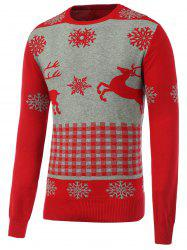 Rib Hem Crew Neck Christmas Sweater -