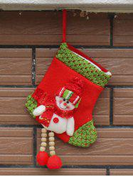 Merry Christmas Decoration Snowman Hanging Present Sock - WHITE