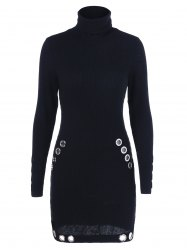 Eyelet Decorated Bodycon Dress -