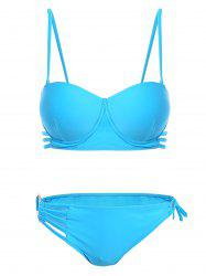 Padded Hollow Out Strappy Bikini