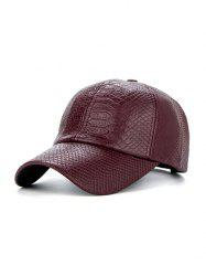 PU Leather Crocodile Snapback Baseball Hat -
