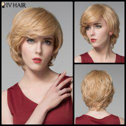 Siv Hair Short Skilful Side Bang Straight Real Natural Hair Wig