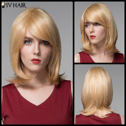 Siv Hair Faddish Medium Side Bang Straight Real Natural Hair Wig