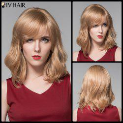 Siv Hair Medium Side Bang Slightly Wavy Real Natural Hair Wig