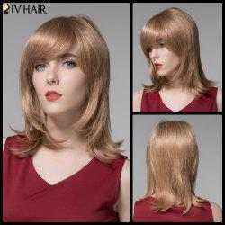 Siv Hair Medium Side Bang Straight Real Natural Hair Wig