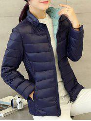 Convertible Puffer Padded Down Jacket - CADETBLUE