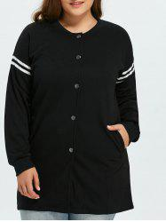 Plus Size Striped Jacket -
