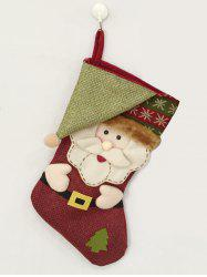 Christmas Decoration Santa Hanging Candy Present Sock - COLORMIX