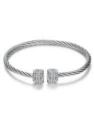 Punk Twisted Wire Cuff Bracelet