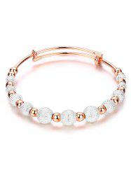 Dull Polished Mixed Beaded Bracelet - SILVER AND GOLDEN