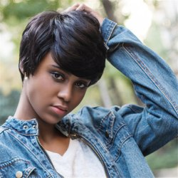 Side Bang Layered Short Shaggy Straight Synthetic Wig