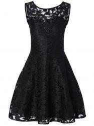 Lace Cocktail Formal Skater Short Dress -