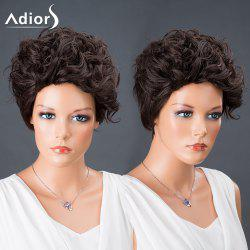Adiors Hair Pixie Cut Short Curly Synthetic Wig - BLACK