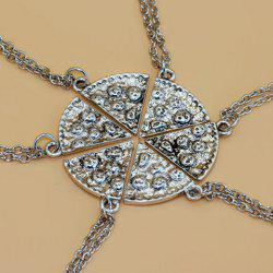 6PCS Sector Carving Best Friend Necklace