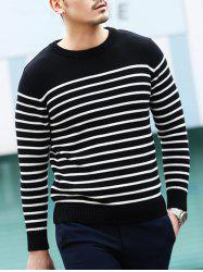 Crew Neck Stripe Pullover Sweater
