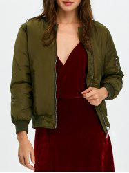 Double Side Patched Bomber Jacket -