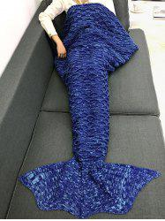 Sofa Keep Warm Crochet Fish Scale Mermaid Blanket -