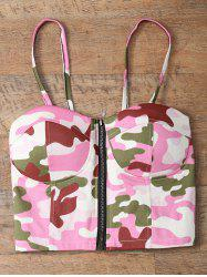 Camouflage Corset Bralet Tank Top -