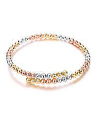 Alloy Polished Beads Bracelet