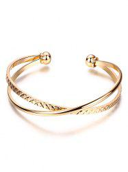 Crossover Engraved Cuff Bracelet -
