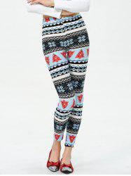 Christmas Tree Printed Footless Leggings -
