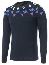 Long Sleeves Crew Neck Graphic Sweater -
