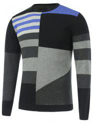 Crew Neck Contrast Color Sweater