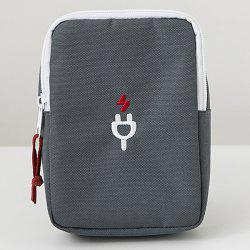 Nylon Pouch for Cellphone Accessories Earphones USB Cables -