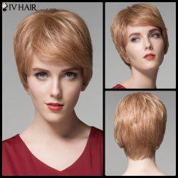 Siv Hair Pixie Cut Short Side Bang Straight Real Natural Hair Wig