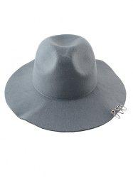 Alloy Circles Felt Floppy Hat -