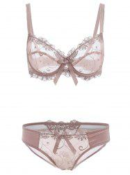 Sheer Balconet Push Up Transparent Bra and Underwear -